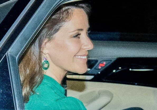 Princess Marie wore Raquel Diniz green armonia silk georgette dress. Crown Princess Mary wore a floral maxi skirt