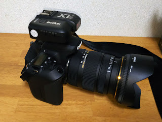 Canon EOS 9000D +Godox X1T-C TTLワイヤレスフラッシュトリガー