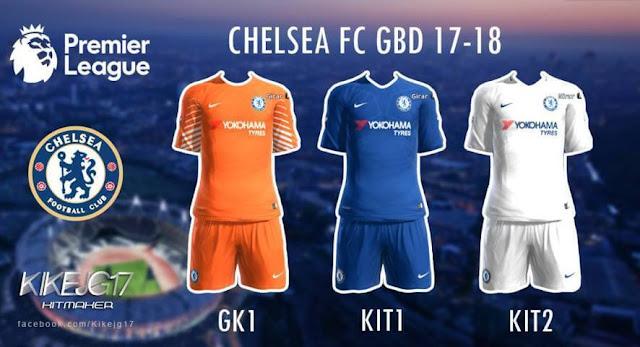 Kit Chelsea 2017-18 PES 2013