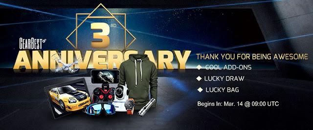 Gearbest 3rd anniversary