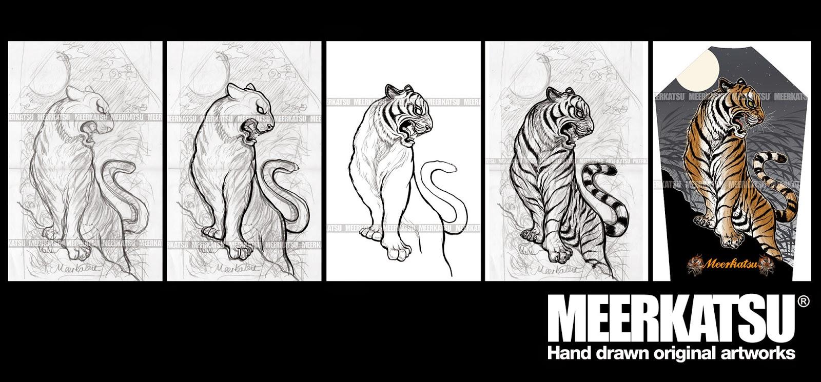340c3d37e9c9d Meerkatsu Art: Midnight Tigers