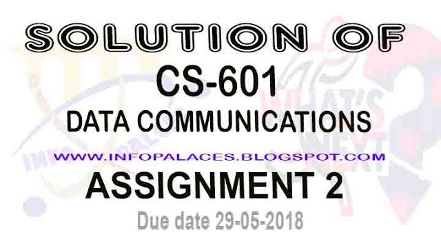 CS 601 Assignment No 2 Spring 2018 Solution