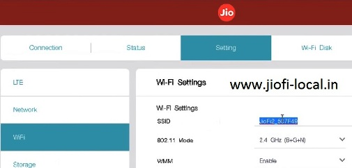 jiofi local html settings for jiofi 2