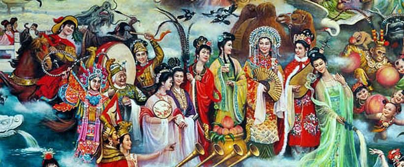 มู่หลาน (花木蘭), จางเซิงโยว(張僧繇,คนวาดมังกร), เหลียงหวงอวี่(梁紅玉,หญิงตีกลอง), มู่กุ้ยอิง(穆桂英), เสอไท่จวิน(佘太君), เบ้งเฮ็กกับจกหยง(孟獲夫妻), ซัวบุ้นกี(蔡文姬), สองพี่น้องตระกูลเกี้ยว (大小喬), เตียวเสี้ยน(貂禪), ไซซี(西施), หยางกุ้ยเฟย(楊貴妃), หวังเจาจวิน(王昭君), ซุนหงอคง(孫悟空)