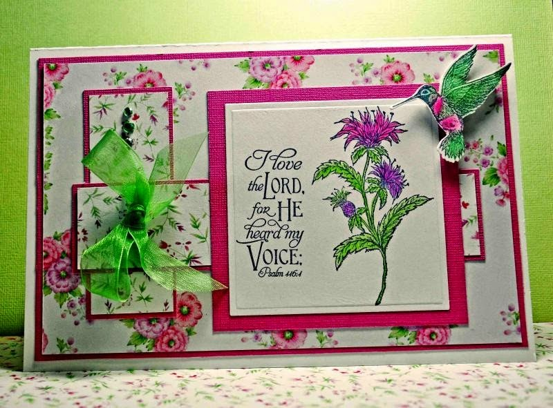 Our Daily Bread Designs, Scripture Collections 6, Bee Balm, Hummingbird