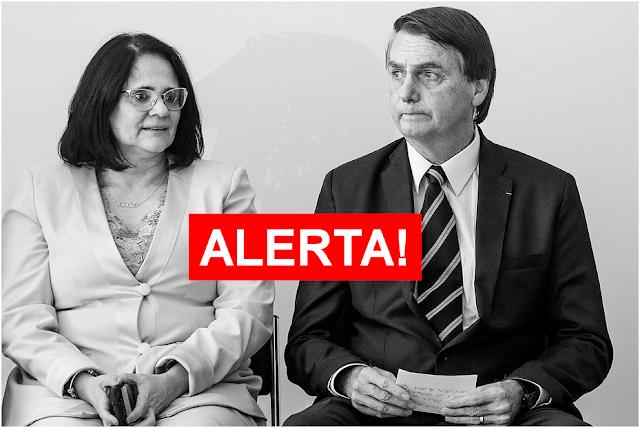 Grupo terrorista faz ameaça de morte à Damares, ao presidente Bolsonaro e aos cristãos