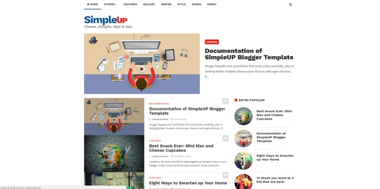 Simpleup blogger template download free blogspot theme for Video blogger template
