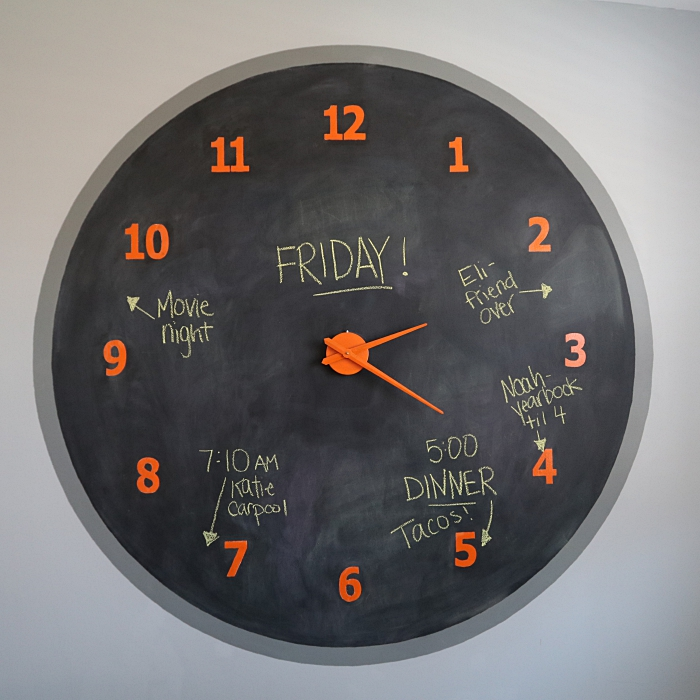 Giant Chalkboard Wall Clock