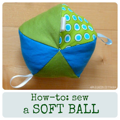 Beginner sewing tutorial: how to sew a soft fabric ball for a baby