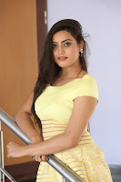 Shipra gaur in V Neck short Yellow Dress ~  012.JPG