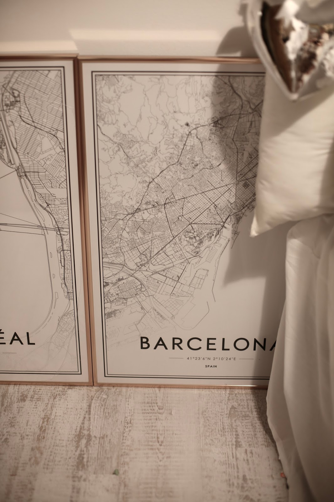 Barcelona map print