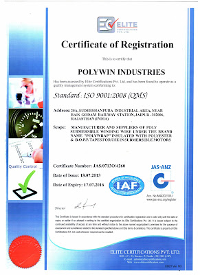 Polywin Gets ISO 9001:2008 Certification