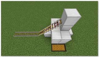 Minecraft 高速トロッコ輸送 アイテム荷降ろし駅 作り方⑦