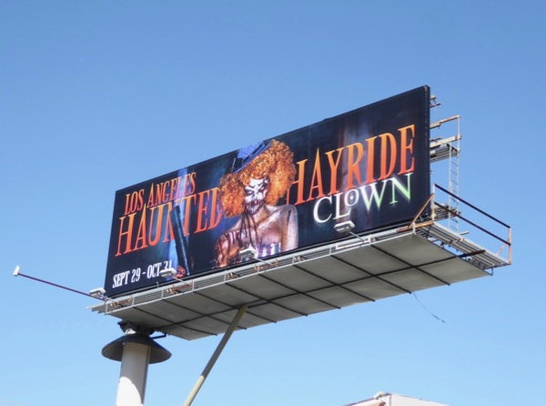 LA Haunted Hayride Clown 2017 billboard