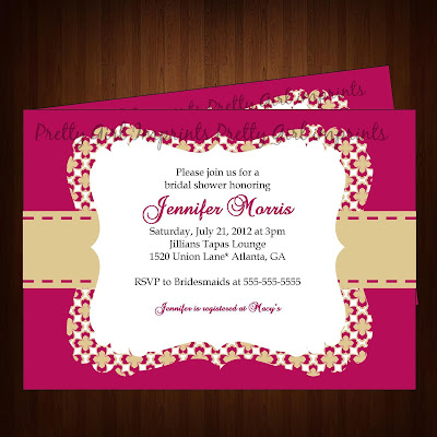 Costco Bridal Shower Invitations