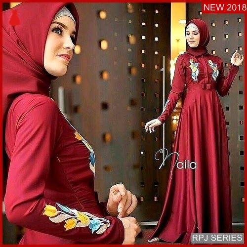 RPJ098D133 Model Dress New Cantik Naila Wanita