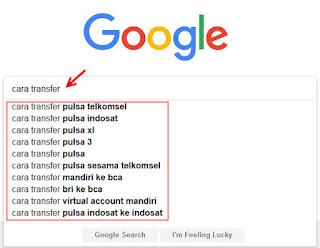 google auto suggestion