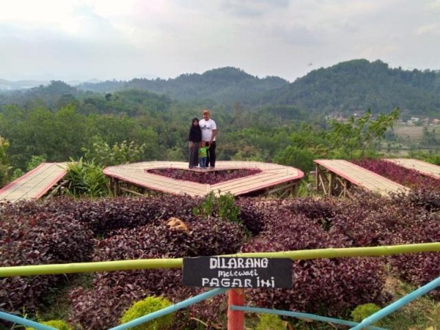 Coba Geh Jembatan Love U Bukit Pangonan Icon Wisata Alam Kota Pringsewu Lampung