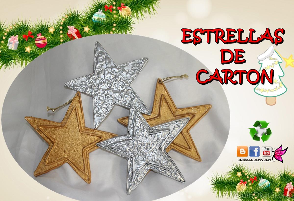 El rincon de marylin como hacer estrellas de carton - Como hacer estrellas de navidad ...