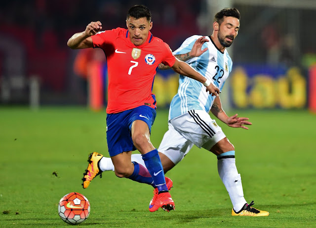 Chile y Argentina en Clasificatorias a Rusia 2018, 24 de marzo de 2016