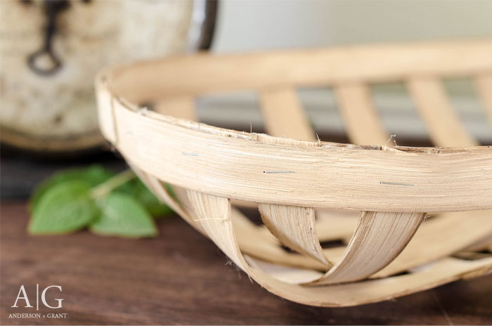 Learn how to make a reproduction tobacco basket that will fit in with your farmhouse or country style decor.  |  www.andersonandgrant.com