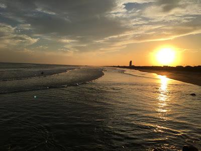 矢指ヶ浦 夕日の海