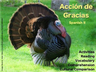 Thanksgiving  - Spanish Vocabulary and Activities by AnneK at Confesiones y Realidades Blog