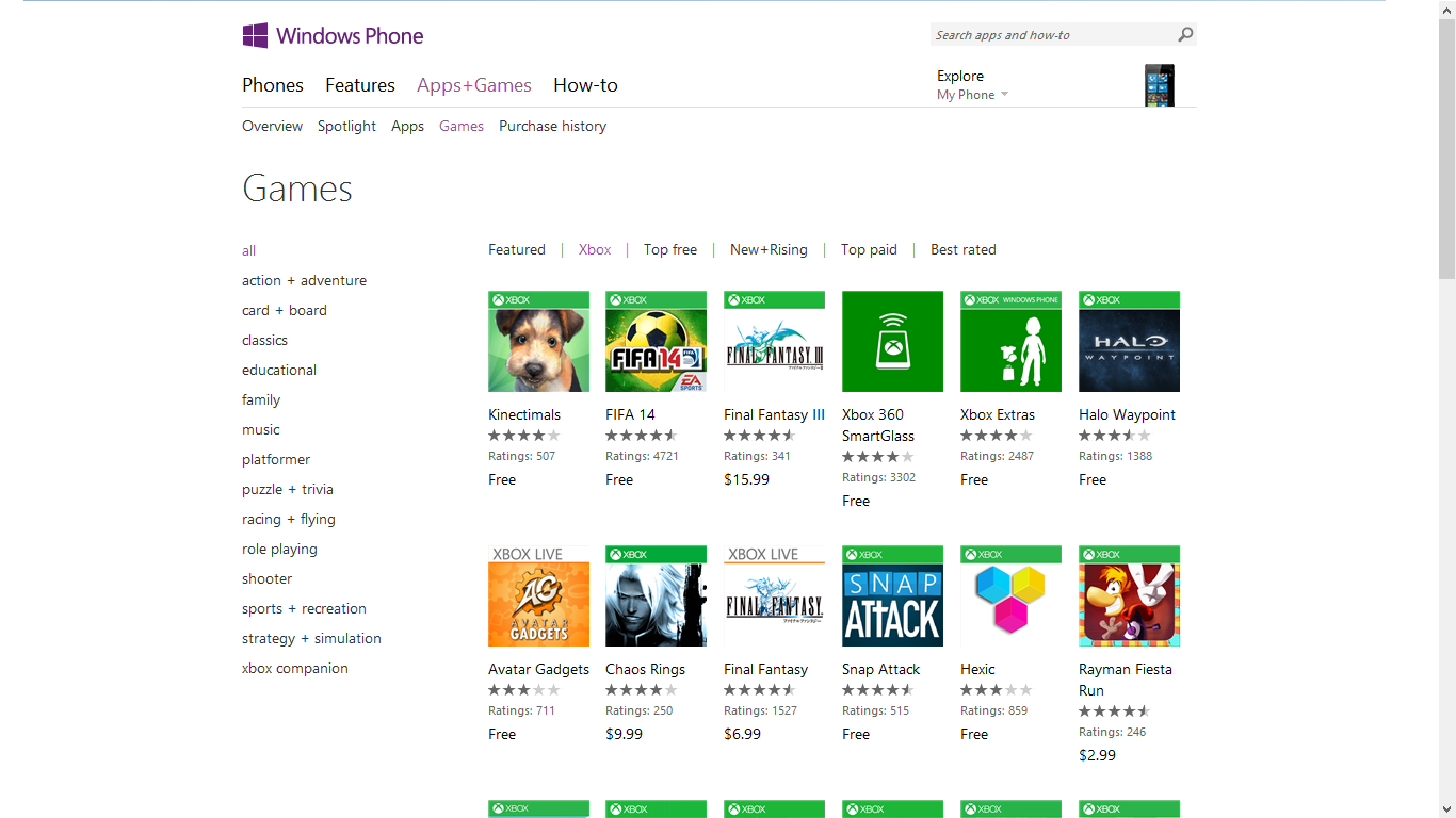 Windows Phone Free Paid Games