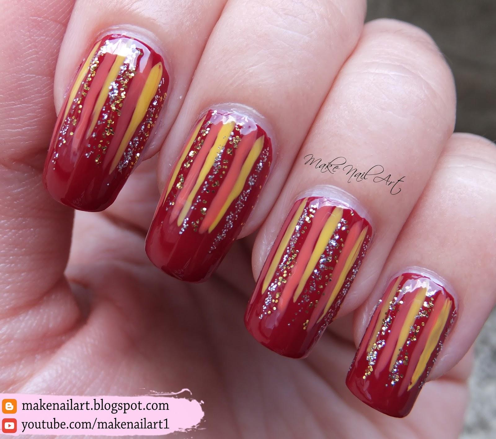 Make Nail Art: Autumn Glitter Waterfall Nail Art Design ...