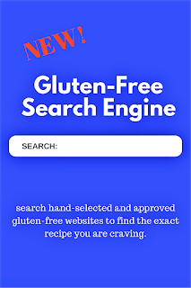 The very first and ONLY all gluten-free recipe search engine. You can type in pancakes, muffins, apple pie, etc. and only all gluten free recipes from hand-selected sites will appear.