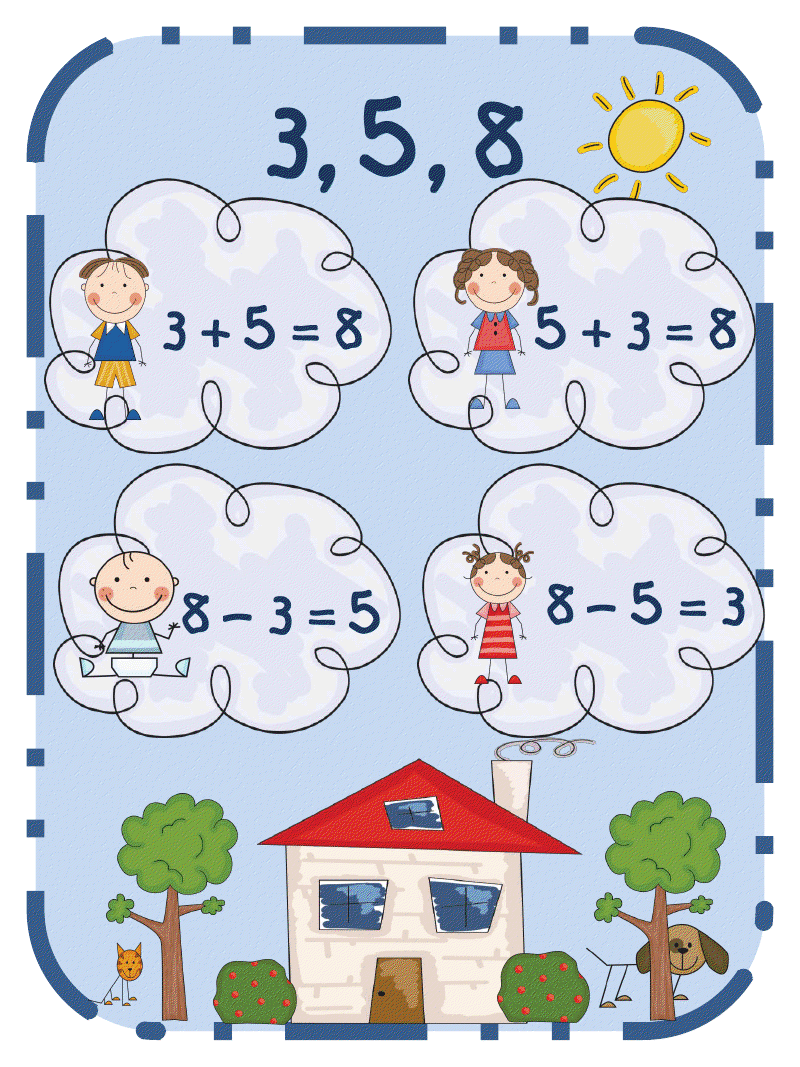 First Grade Funtastic Fact Family Puzzles