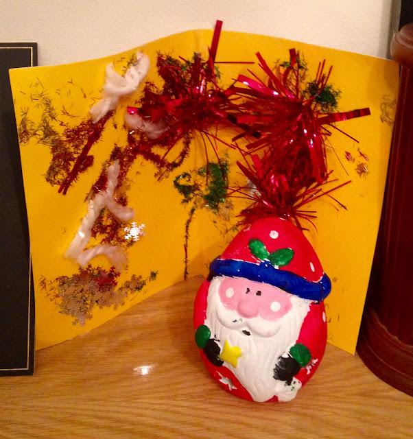 Santa and Card