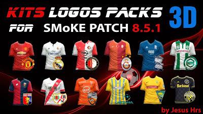 PES 2016 Kits Logo 2D dan 3D untuk SMoKE Patch 8.5.1