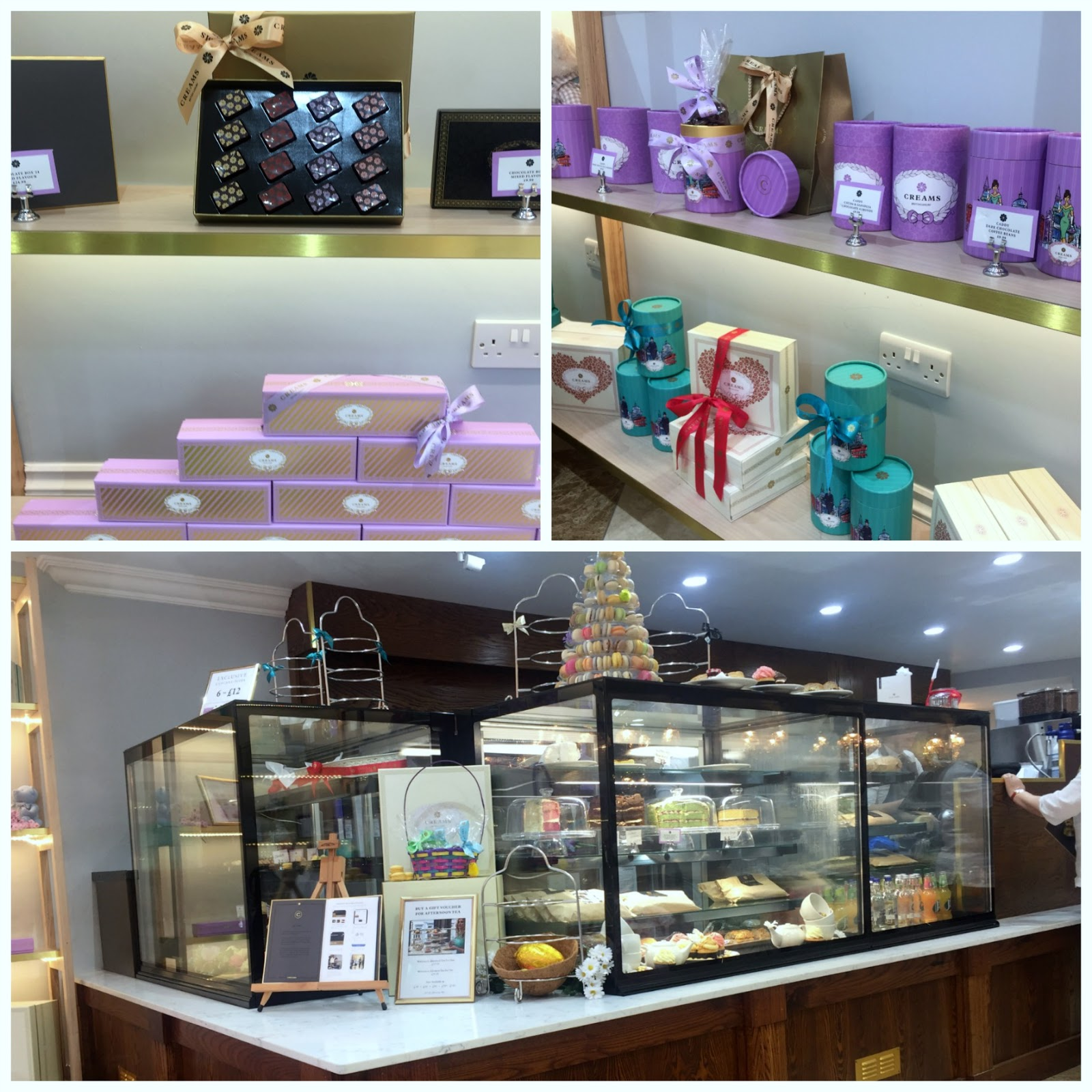creams british luxury cakes and chocolates
