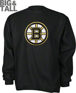 Big and Tall Boston Bruins Crewneck Sweatshirt