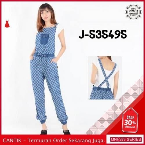 MNF383J49 Jumpsuit Overall Wanita J 535495 Kotak Denim 2019 BMGShop