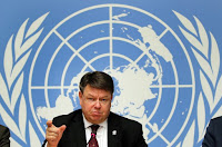 World Meteorological Organization (WMO) Secretary-General Petteri Taalas attends a news conference at the United Nations in Geneva, Switzerland. (Credit: reuters.com) Click to Enlarge.