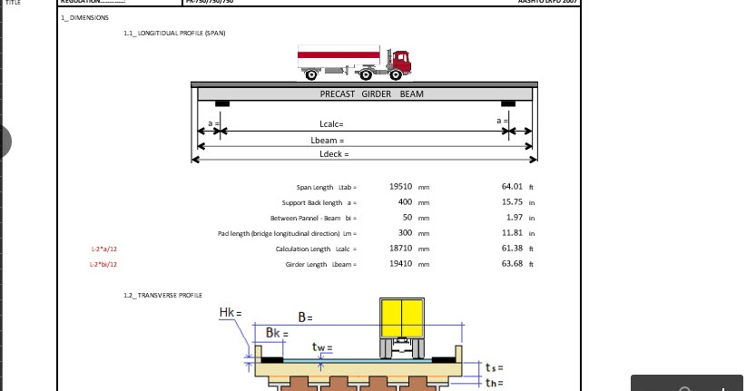 Bridge Design Xls