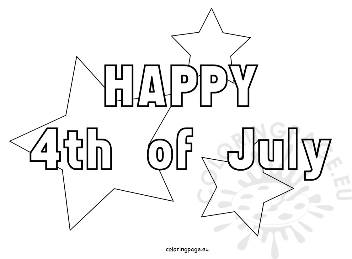 Printable coloring pages for 4th of july - 4th Of July Coloring Pages Free To Prints
