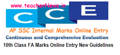 AP SSC FA SA Internal Marks Online Entry New Guidelines