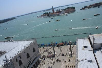 San Giorgio Island and Piazza San Marco in Venezia