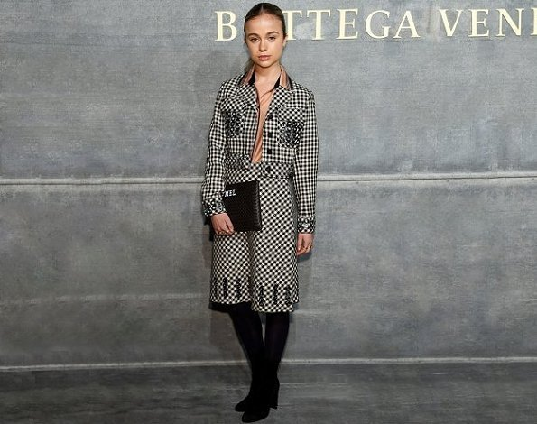 Lady Amelia Windsor attends the Bottega Veneta Fall/Winter 2018 fashion show