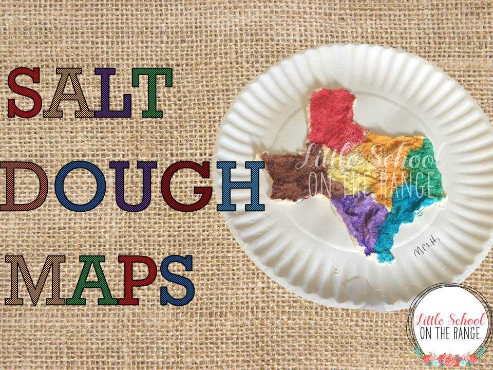 salt map of texas Little School On The Range Salt Dough Maps