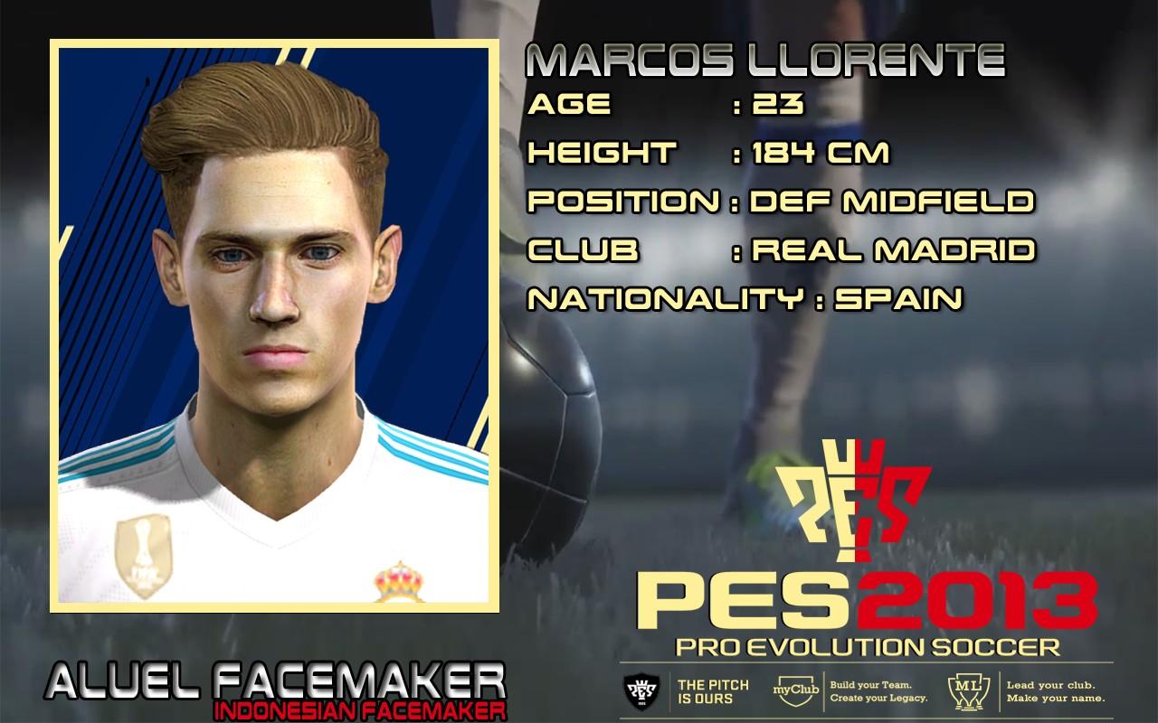 PES 2013 Marcos Llorente Face by Aluel facemaker