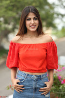Rhea Chakraborty in Red Crop Top and Denim Shorts Spicy Pics ~  Exclusive 238.JPG