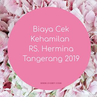 biaya cek kehamilan rs hermina tangerang 2019