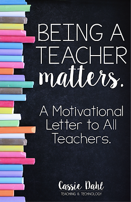 Being a teacher is not an easy job. It is not an 8:00-3:30 job. It is not simply lesson plans, standards and testing. There is so much more to being a teacher, there is so much more that matters.