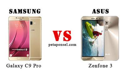 Perbedaan Samsung Galaxy C9 Pro dan Asus Zenfone 3