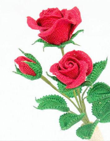 Amigurumi rose crochet pattern