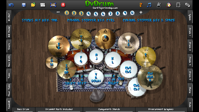 DvDrum 3 provides a realistic drum experience on your PC